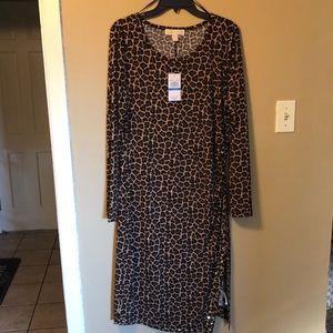 Women's Michael Kors cheetah print dress